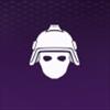 紫ヘルメット