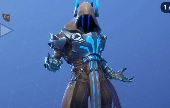 アイスキングは角の付いたフードと鎧が特徴的なスキンです。